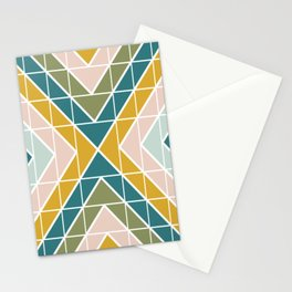 Earthy Pastel Geometry Stationery Cards
