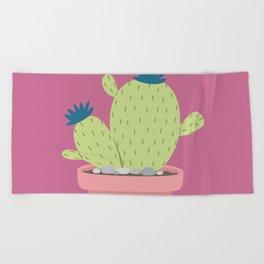 Cactus succulents Nature Plants Beach Towel