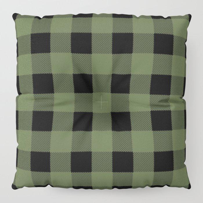 Green Buffalo Plaid Floor Pillow