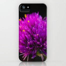 Purple Flower Spike by Reay of Light Photography iPhone Case