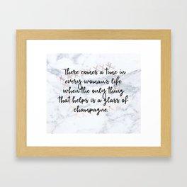 Champagne love Framed Art Print