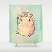 prince Shower Curtains featuring Prince Angel of Bunnyland by Mike Koubou