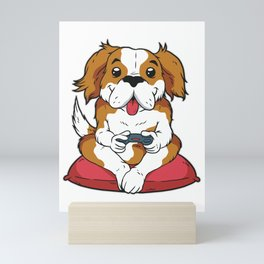 Puppy Dog Video Gamer Mini Art Print