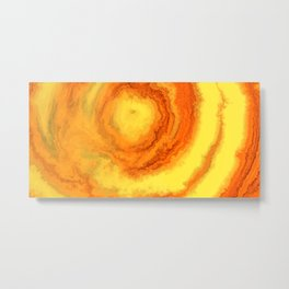 Yellow Agate Mineral Texture Metal Print
