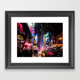 New York City Night Framed Art Print