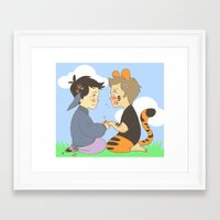 destiel Framed Art Prints featuring WTP! Destiel by psych0tastic