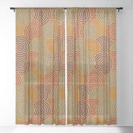 Desert Circles - Burnt Orange Sheer Curtain