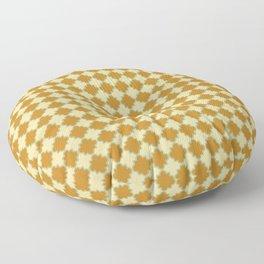 Tranquil Pattern Art in Rust Floor Pillow