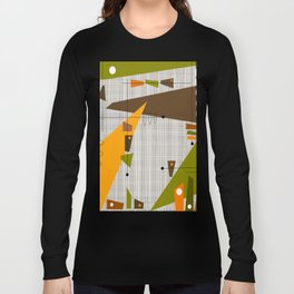Explosion Of Rectangles Long Sleeve T-shirt