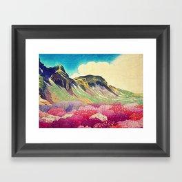 Walk towards Manayama Framed Art Print