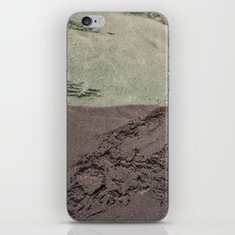 Sea Green Waves on Concrete iPhone Skin