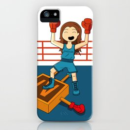 Diseñadora vs Illustrator iPhone Case