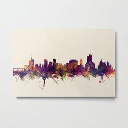 Tulsa Oklahoma Skyline Metal Print