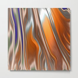 Monochrom Golden Age Splash Abstract Metal Print