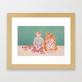 I'm a cat Lady Framed Art Print