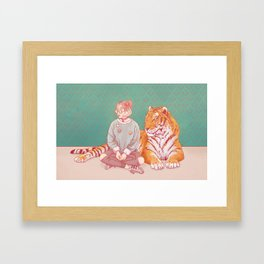 I'm a cat Lady Framed Art Print