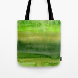 Spring Greens Abstract Watercolor Horizontal Pattern Tote Bag