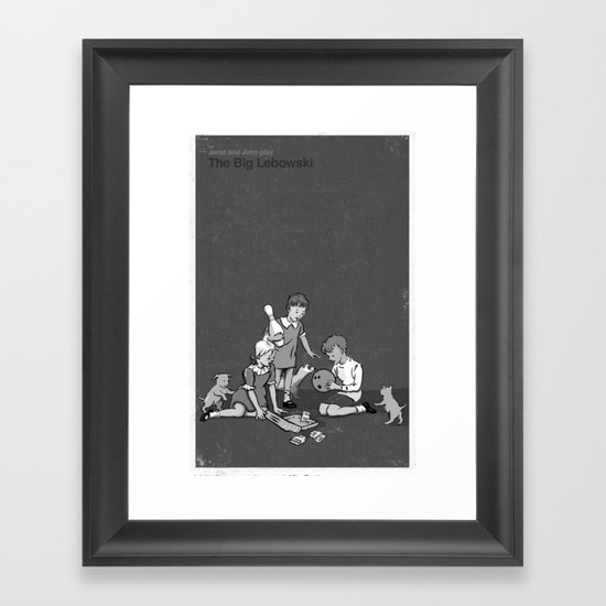 Janet And John Play The Big Lebowski Framed Art Print