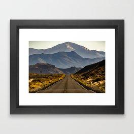 Loneliest Road in America: US 50 Nevada Framed Art Print