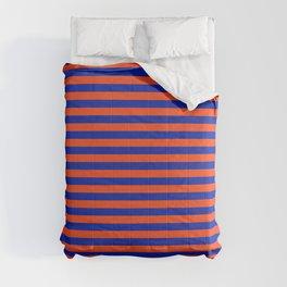 Florida Team Colors Stripes Comforters