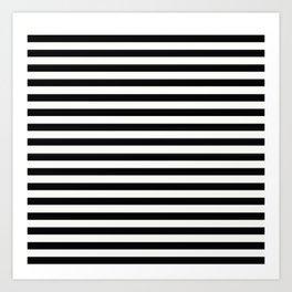 Black and White Stripes Art Print