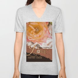 Love Never Fails Unisex V-Neck