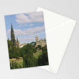 Beautiful Sunny Day in Edinburgh, Scotland Stationery Cards