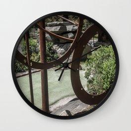 Metal Circles Mini Golf Course Wall Clock