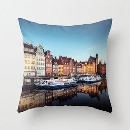 Gdansk City Poland Throw Pillow
