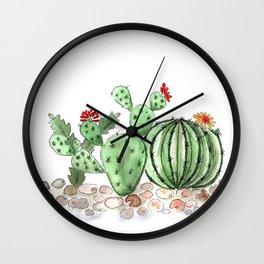 Cactus watercolor illustration Wall Clock