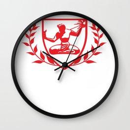 Detroit City Spirit Crest Wall Clock
