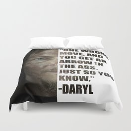 Daryl from The Walking Dead Duvet Cover
