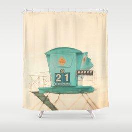 Lifeguard station. No. 21 Shower Curtain