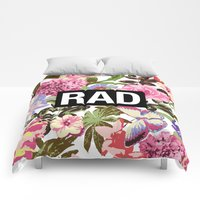 Comforters featuring RAD by Text Guy