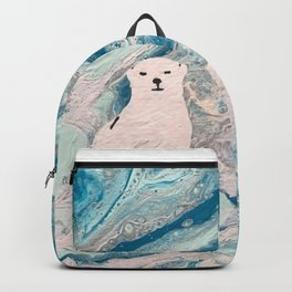 Polar bear on an ice flow Backpack