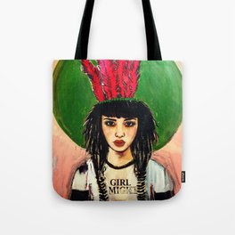GIRL ALMIGHTY PAINTING Tote Bag