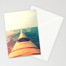 Yellow Kayak in Water Color Nature Photography Stationery Cards