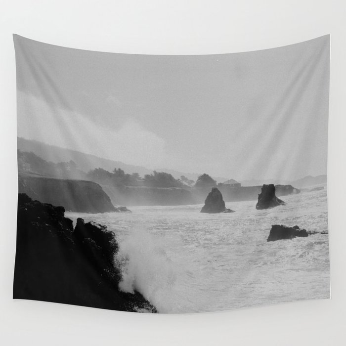 Misty Cliffs of the Soul Wall Tapestry