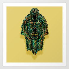 Zombie King Tut Art Print