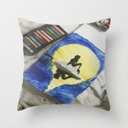 Ariel Pastel Throw Pillow