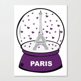 Paris Boule à cœurs Canvas Print
