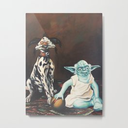 Yoda and a Salacious Dalmation  Metal Print