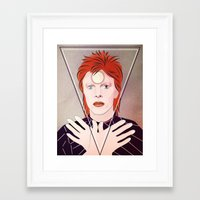 david bowie Framed Art Prints featuring David Bowie by Artsy Fandango