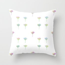 Watercolor Daisy Pattern Throw Pillow