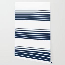White blue striped pattern . Wallpaper