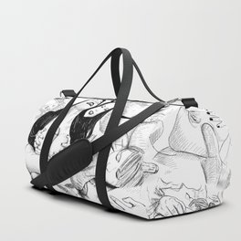 sex collage Duffle Bag