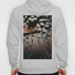 Neon Extrusion I - Cyberpunk Abstract Design Hoody