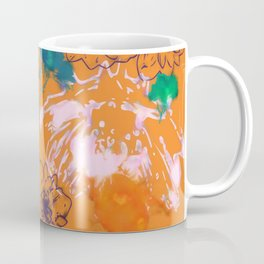 fall floral orange Coffee Mug