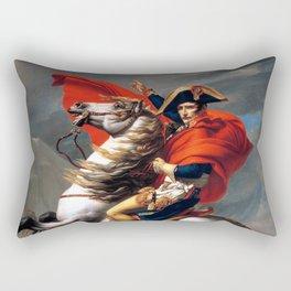 Jacques Louis David Napoleon Crossing the Alps Rectangular Pillow