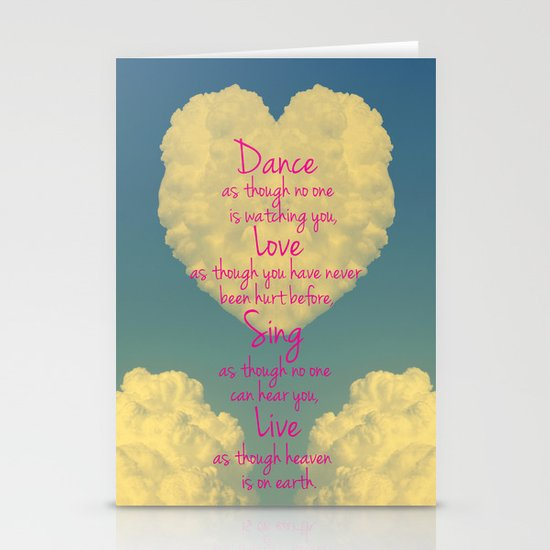 Cloudy Heart  Stationery Cards
